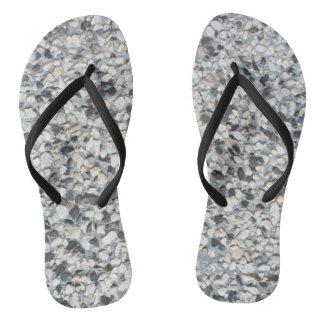 Stony pattern flip flops