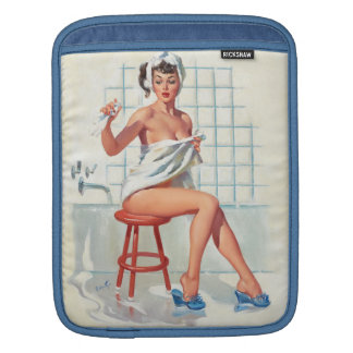 Stool pigeon sexy bathroom retro pinup girl sleeve for iPads