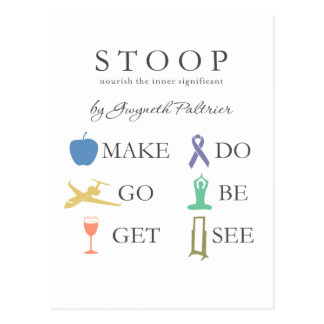 STOOP - Nourish The Inner Significant Postcard