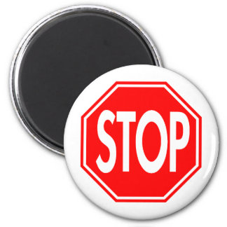 Stop 2 Inch Round Magnet