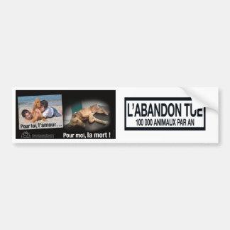 Stop abandonment bumper sticker