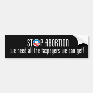 Stop Abortion Bumper Sticker