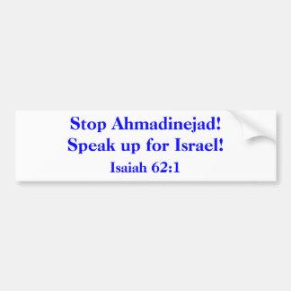 Stop Ahmadinejad! Bumper Sticker