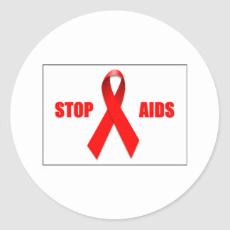 STOP AIDS CLASSIC ROUND STICKER