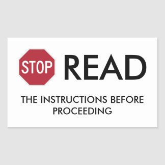 STOP AND READ STICKER
