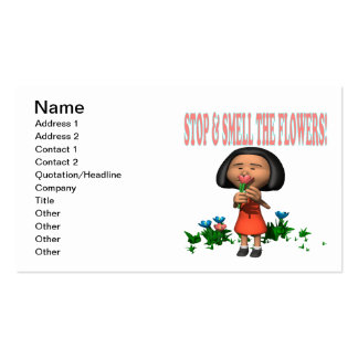 Stop And Smell The Flowers Business Card