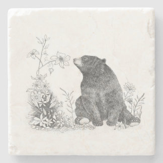 Stop and Smell the Flowers Marble Coaster