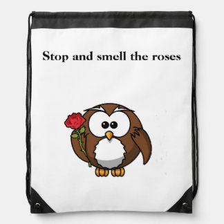 Stop And Smell The Roses Drawstring Bag