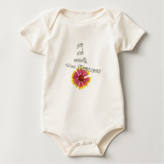 stop and smell to flower baby bodysuit