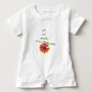 stop and smell to flower baby romper