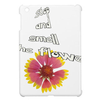 stop and smell to flower iPad mini cover