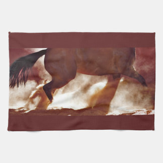 Stop and Turn Kitchen Towel Western Horse