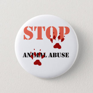 stop animal abuse 2 inch round button