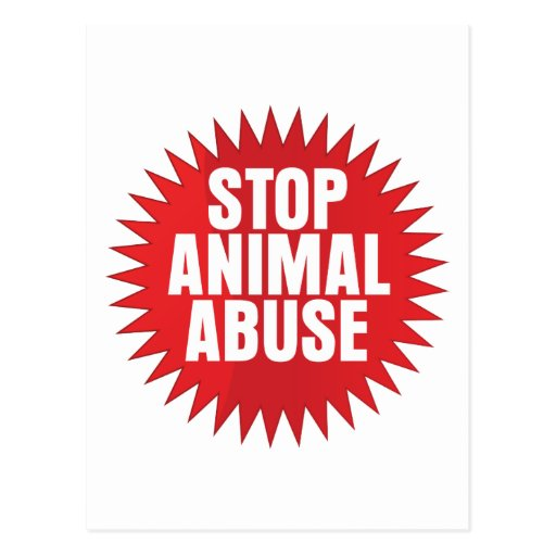 Stop Animal Abuse Post Cards