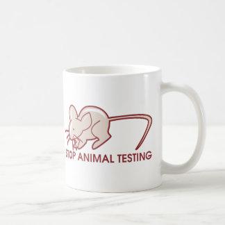 Stop Animal Testing Basic White Mug