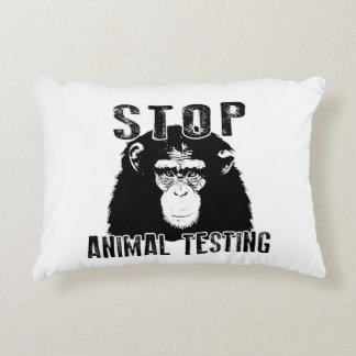 Stop Animal Testing - Chimpanzee Accent Pillow