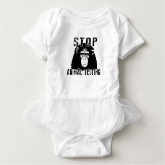 Stop Animal Testing - Chimpanzee Baby Bodysuit