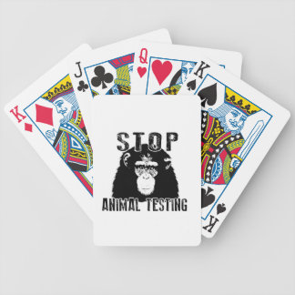 Stop Animal Testing - Chimpanzee Bicycle Playing Cards