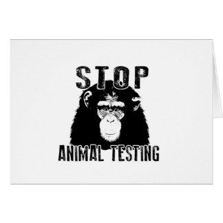 Stop Animal Testing - Chimpanzee Card
