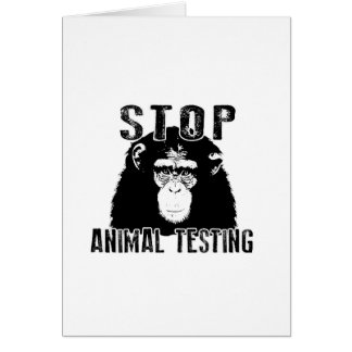 Stop Animal Testing - Chimpanzee Card