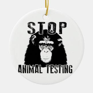 Stop Animal Testing - Chimpanzee Ceramic Ornament