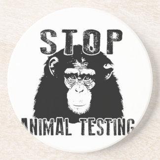 Stop Animal Testing - Chimpanzee Coaster