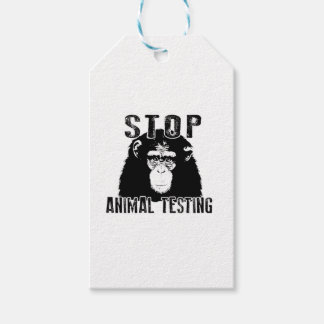 Stop Animal Testing - Chimpanzee Gift Tags
