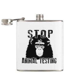 Stop Animal Testing - Chimpanzee Hip Flask