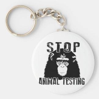 Stop Animal Testing - Chimpanzee Keychain