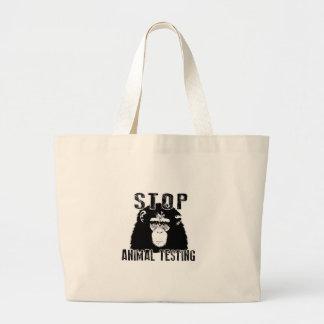 Stop Animal Testing - Chimpanzee Large Tote Bag