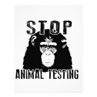 Stop Animal Testing - Chimpanzee Letterhead