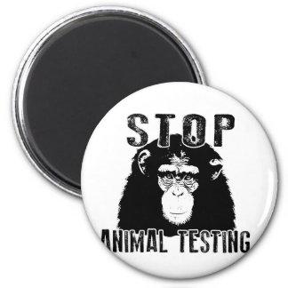 Stop Animal Testing - Chimpanzee Magnet