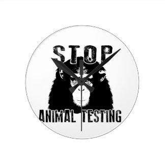 Stop Animal Testing - Chimpanzee Round Clock