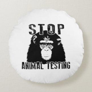 Stop Animal Testing - Chimpanzee Round Pillow