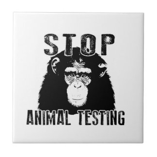 Stop Animal Testing - Chimpanzee Tile