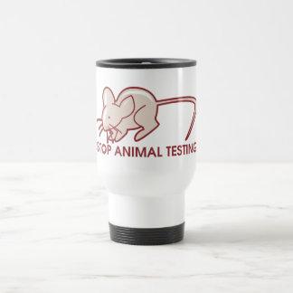 Stop Animal Testing Stainless Steel Travel Mug