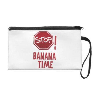 Stop! Banana time Wristlet Purse