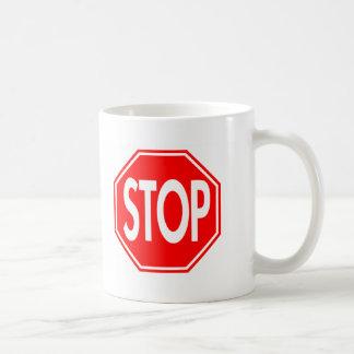 Stop Basic White Mug