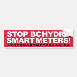 Stop BCHydro Smart Meters Bumper Sticker
