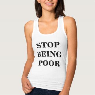 Stop Being Poor Women's Slim Fit Tank Top