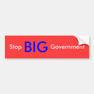 Stop BIG Government Bumper Sticker