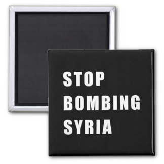 Stop Bombing Syria Magnet