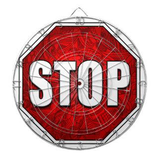 STOP! Bright Bold Red Stop Sign Zen Art/Design Dart Board