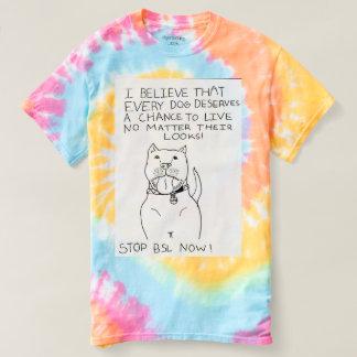 Stop BSL Pastel tie dye t shirt