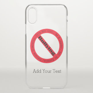 Stop Bullying-Logo by Shirley Taylor iPhone X Case