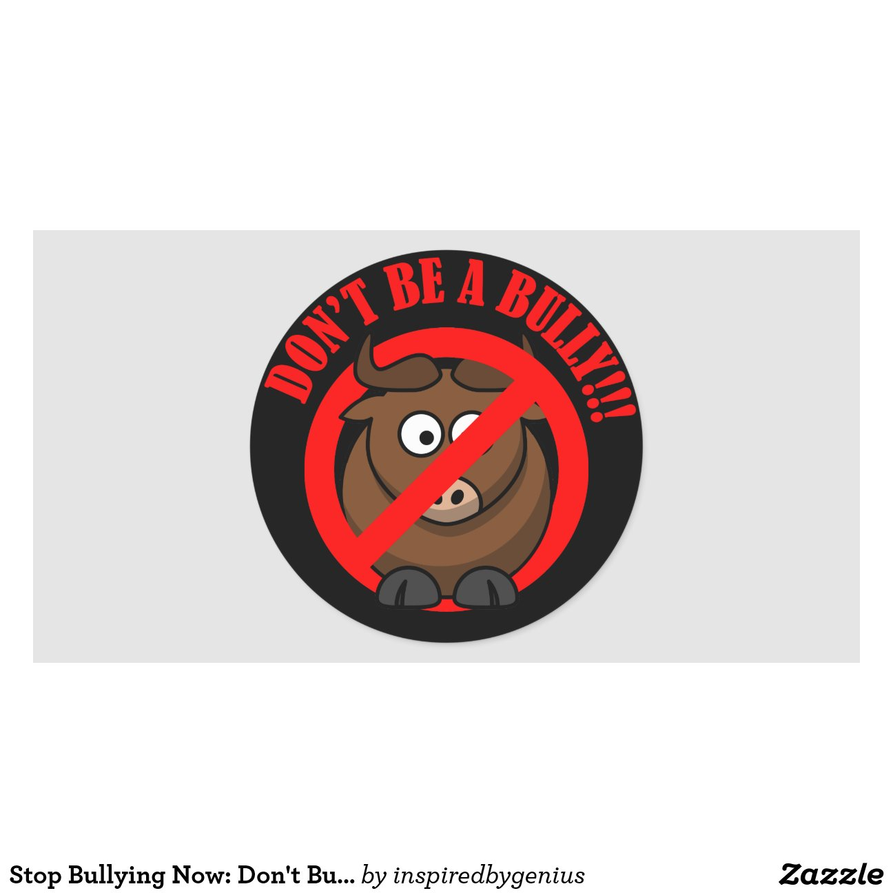 stop bullying now don 39 t bully bullying prevention classic round sticker zazzle. Black Bedroom Furniture Sets. Home Design Ideas