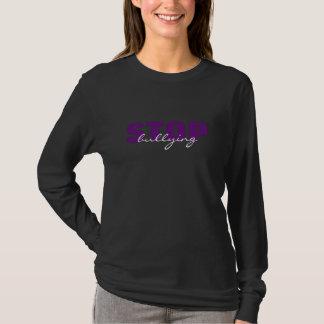 Stop Bullying Purple Simple Black LongSleeve Shirt