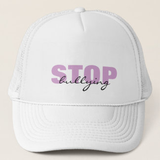 Stop Bullying Purple Simple Hat