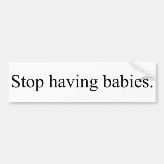 stop bumper sticker