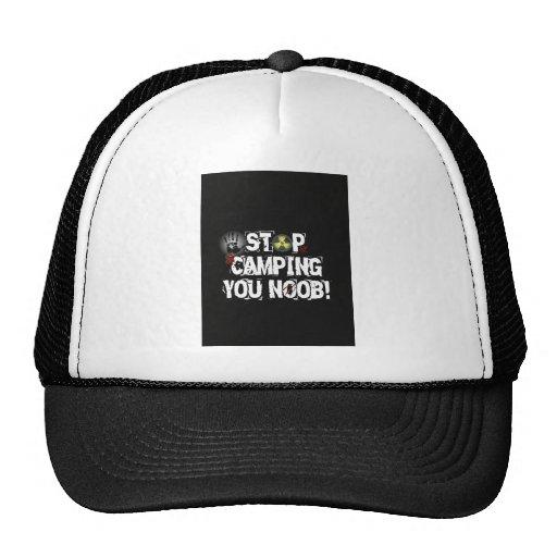 Stop Camping You Noob v2 Trucker Hats